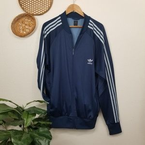 Adidas track jacket three stripe XL